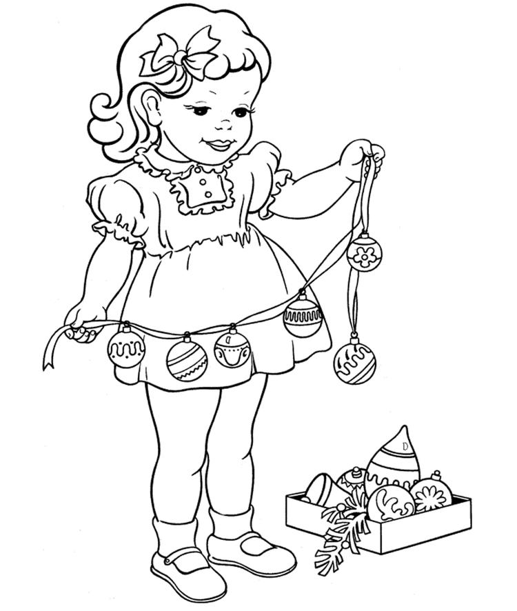 Christmas Coloring Page Decorations