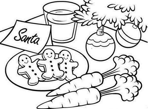 Christmas Coloring Pages For Kids Gingerbread For Santa