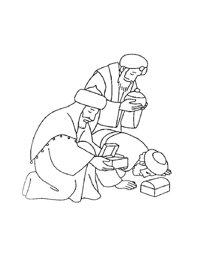 Christmas Coloring Pages For Kids The Three Kings