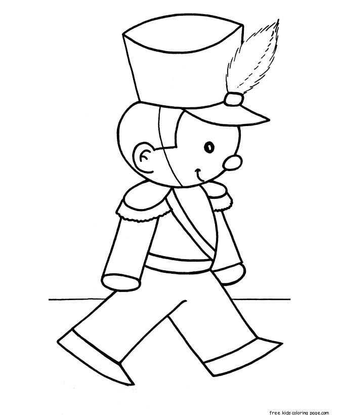 Christmas Coloring Pages Toy Soldier