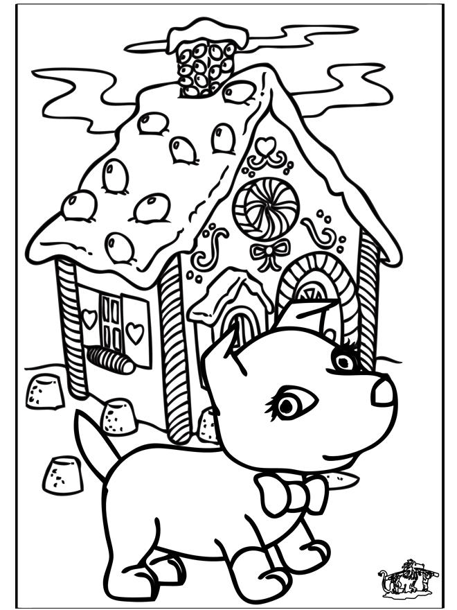 Christmas Dog Coloring Pages For Kids