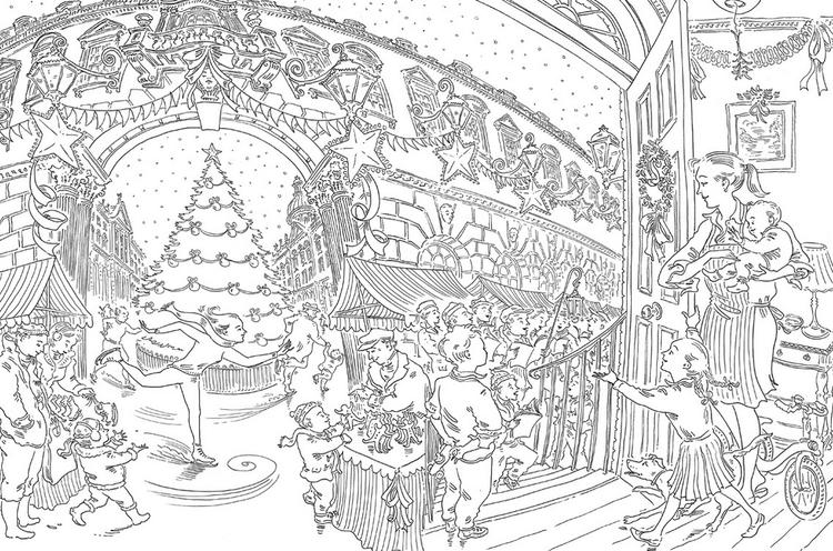 Christmas Fullwidth Coloring Book