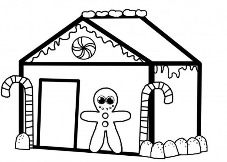 Christmas Gingerbread House Coloring Pages.Christmas Gingerbread House Coloring Pages Coloring Ideas