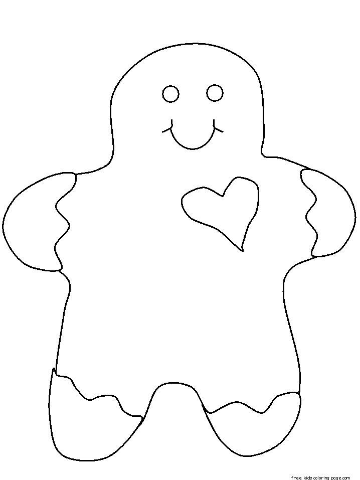 Christmas Gingerbread Men With Face Coloring Pages