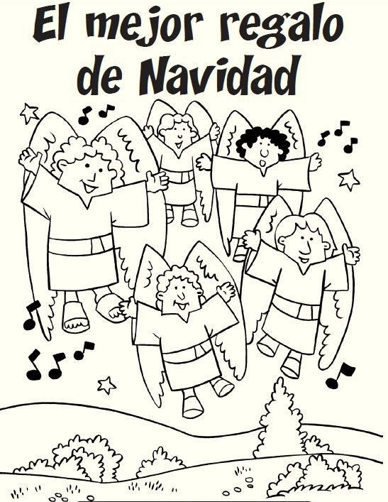 Christmas in spanish december coloring pages