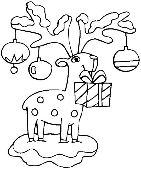 Christmas Kid Coloring Pages