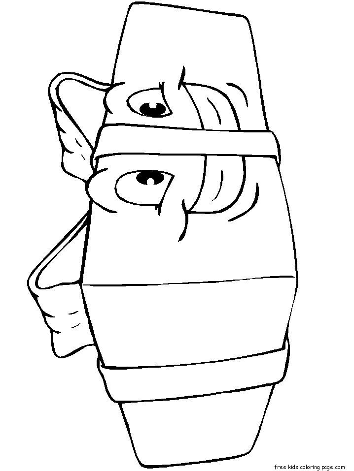 Christmas Presents With Happy Face Coloring Pages