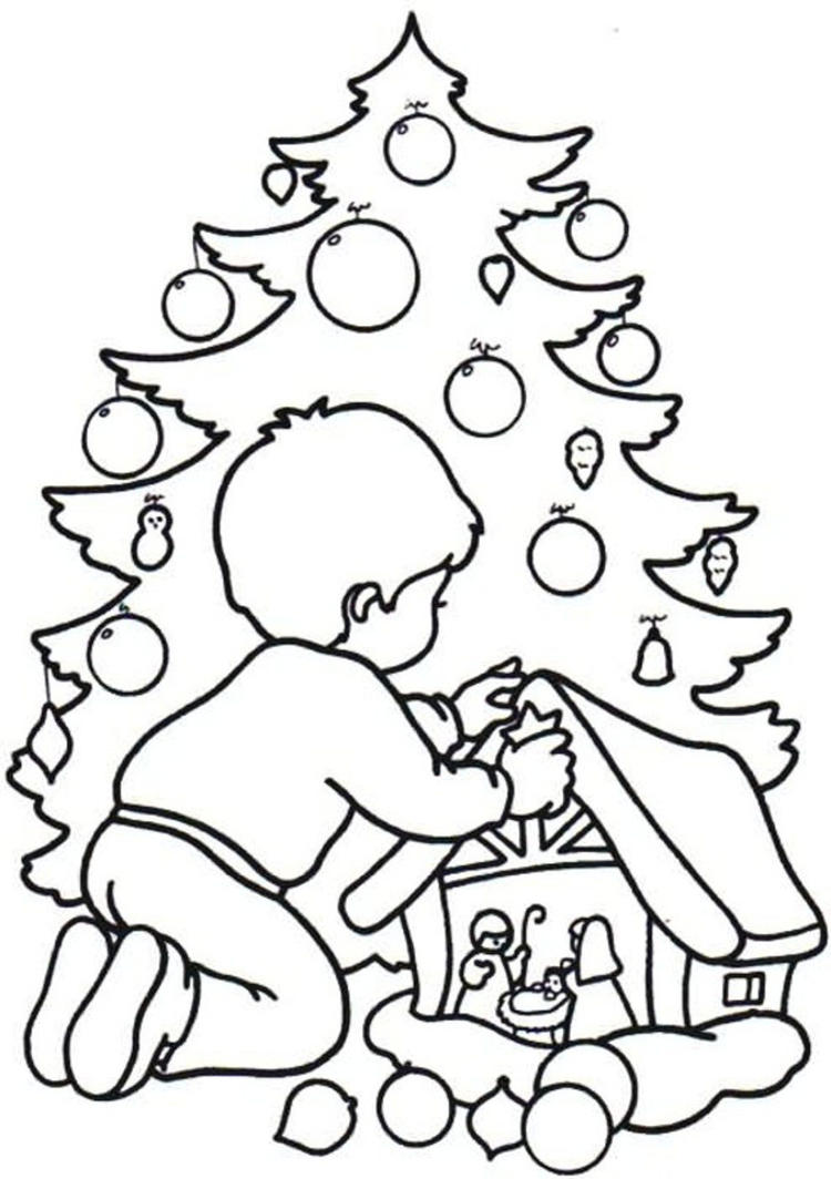 Christmas Printable Coloring Pages Kid Making Craft