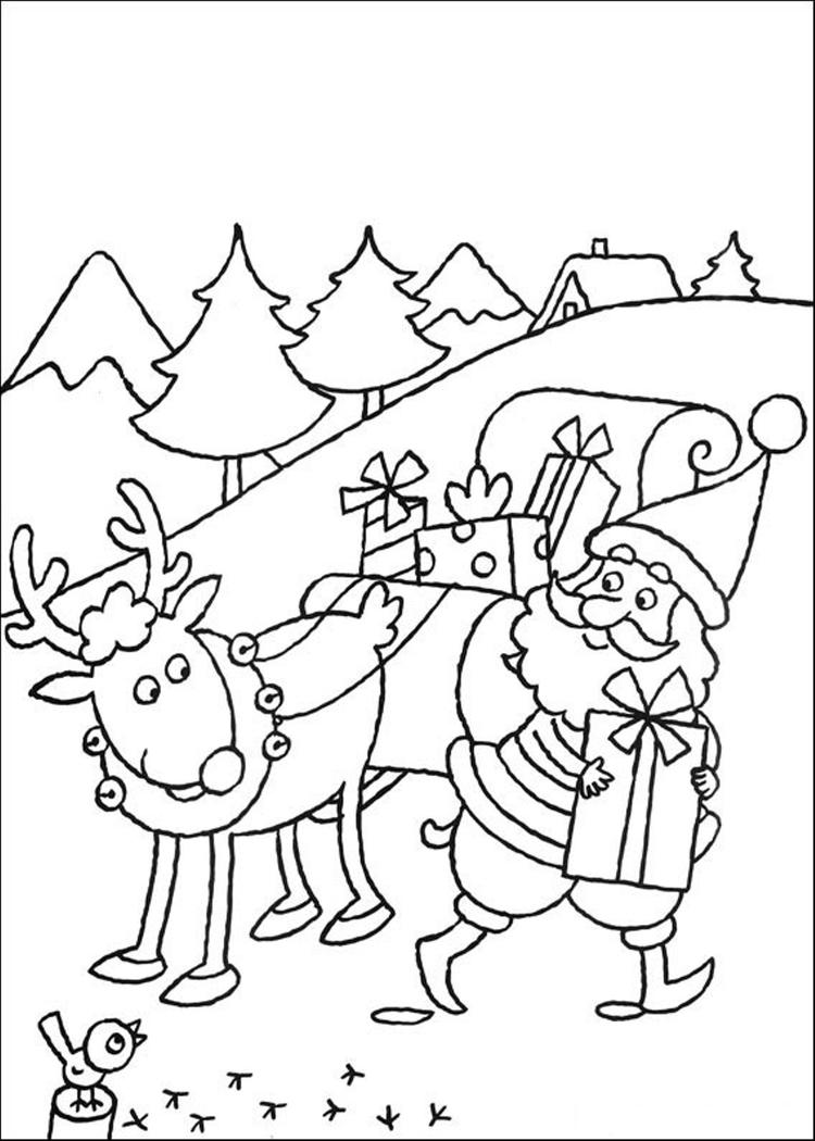 Christmas Reindeer Coloring Pages Printable