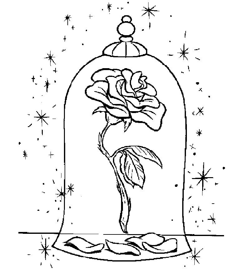 Christmas Rose Coloring Pages