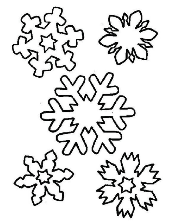 Christmas Snowflakes Coloring Pages