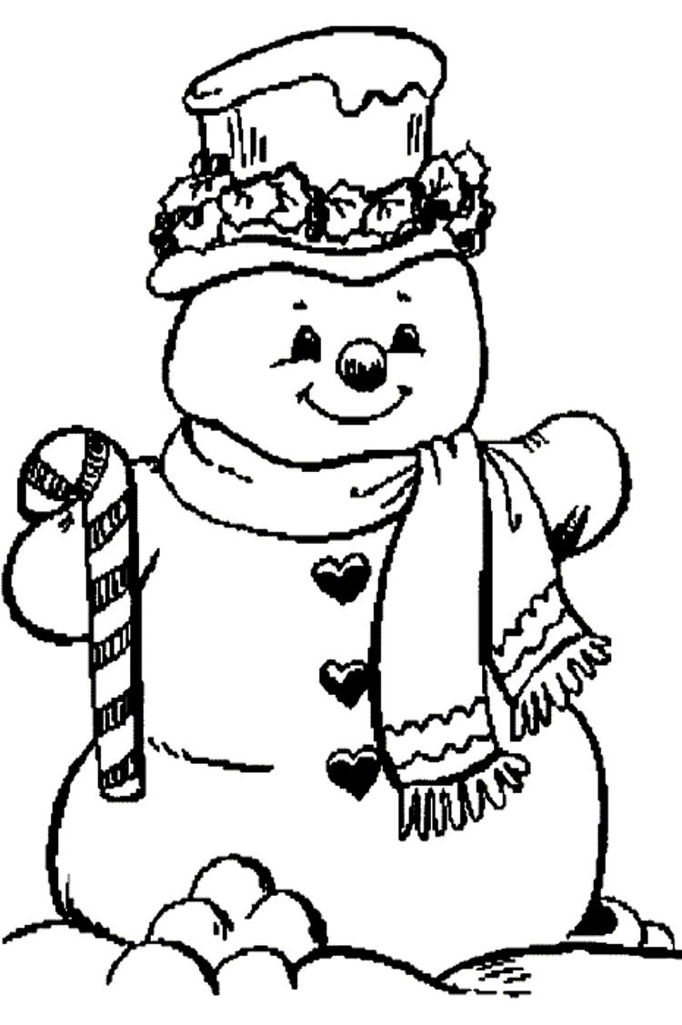 Christmas Snowman Coloring Pages To Print