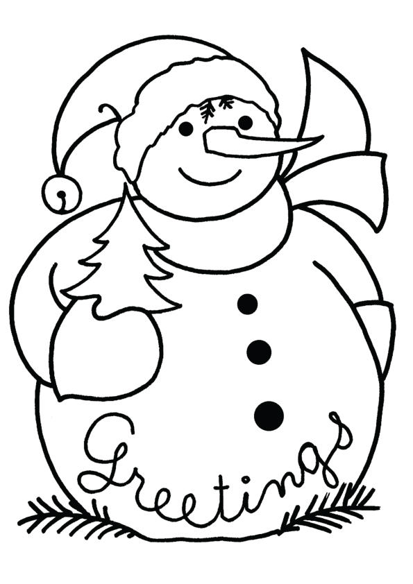 Christmas Snowman Coloring Pages