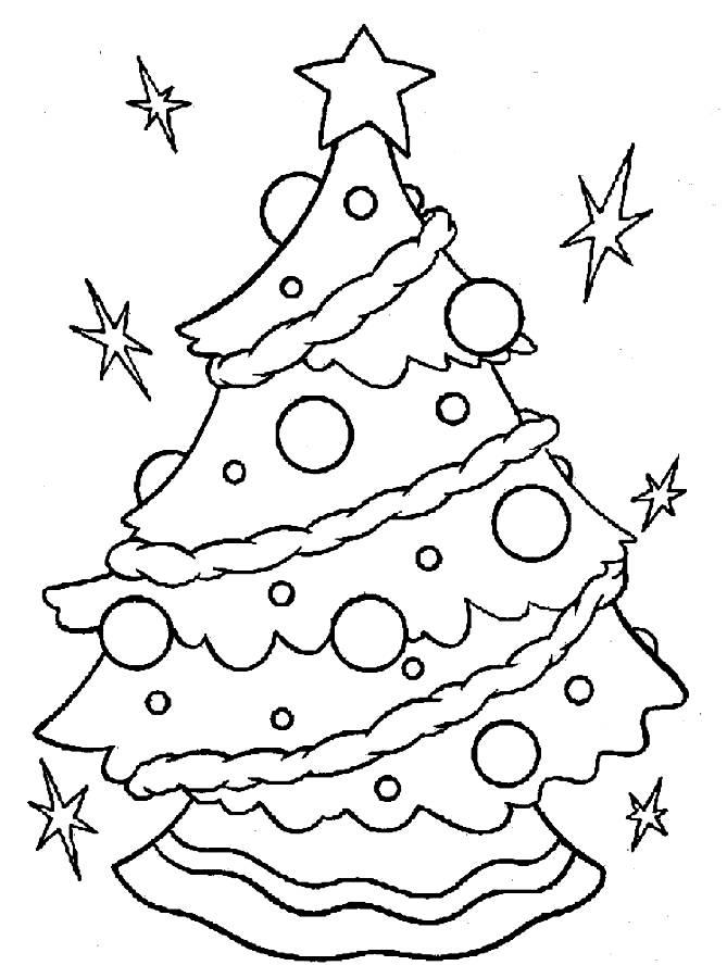 Christmas Tree Coloring Pages Children