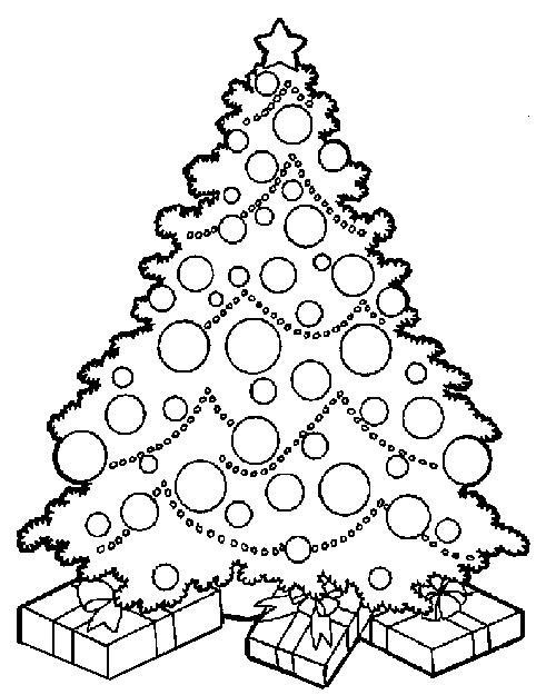 Christmas Tree Coloring Pages For Kids To Print