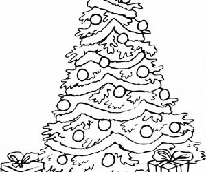 Christmas tree coloring pages printable