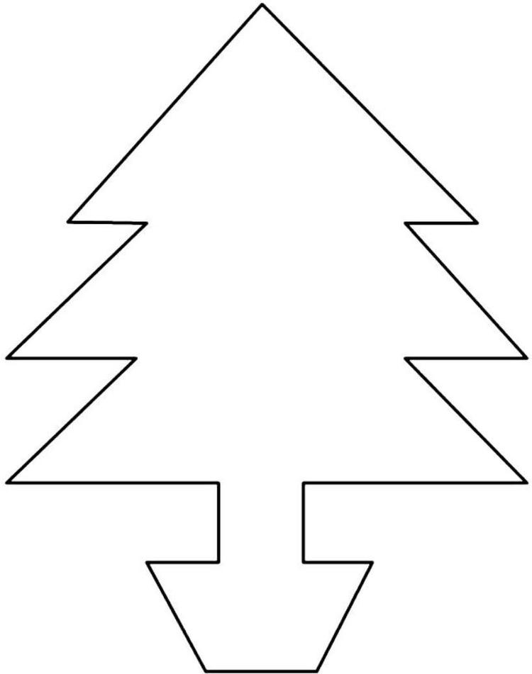 Christmas Tree Shape Coloring Page