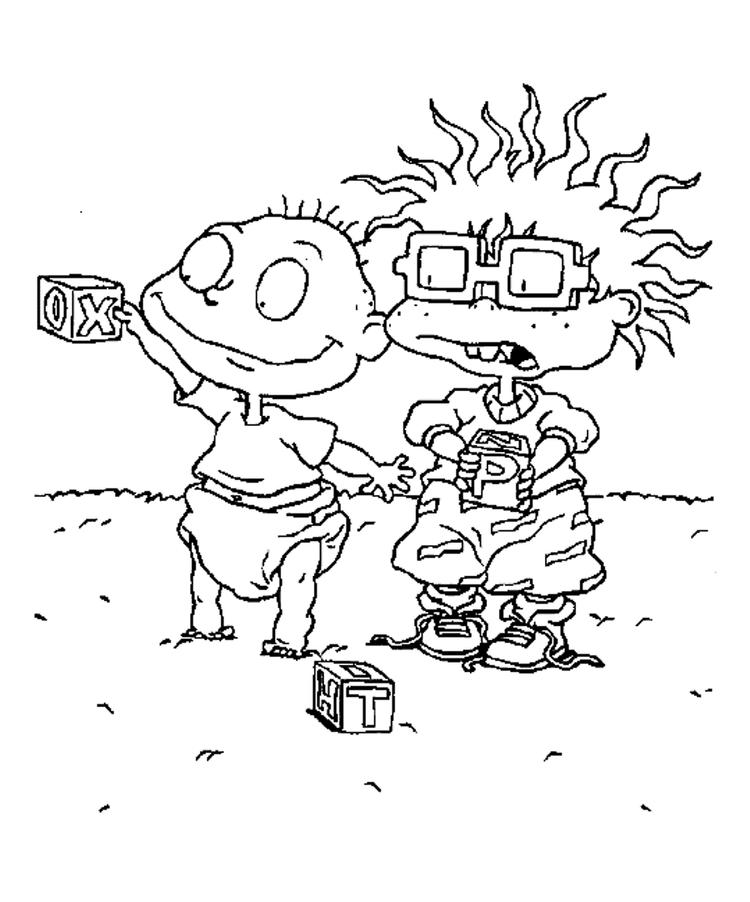 Chuckie And Tommy Rugrats Coloring Pages