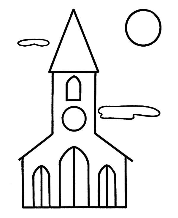 Church Coloring Pages For Preschoolers