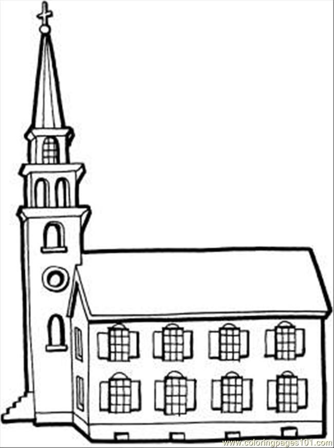 Church Coloring Pages Free Printable