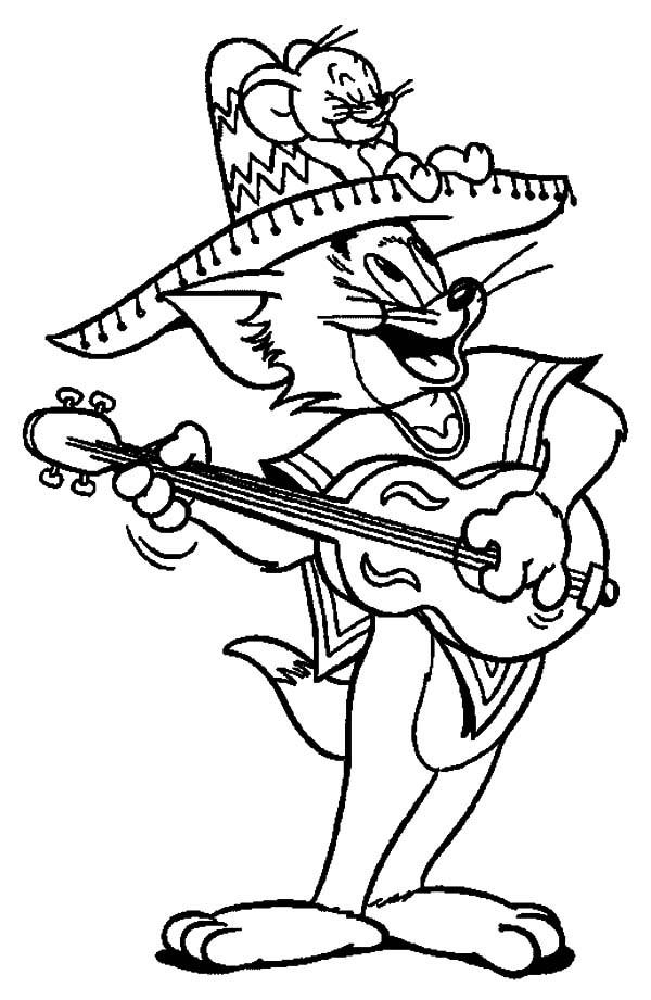 Cinco De Mayo Coloring Pages Tom And Jerry