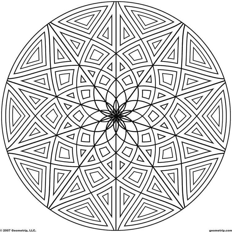 Circle Geometric Pattern Coloring Pages For Adults