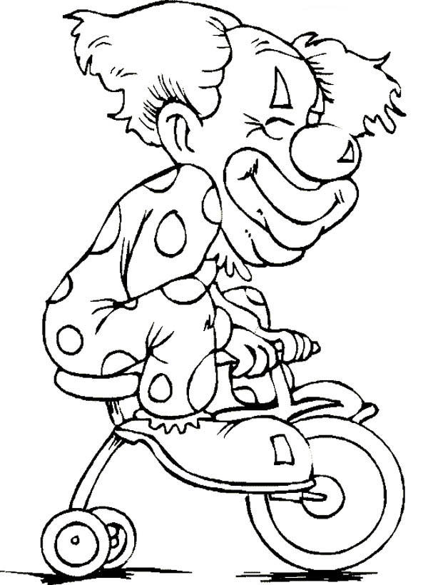 Circus And Carnival Clown Coloring Pages For Kids