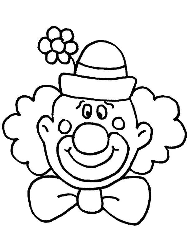 Circus And Carnival Clown Head Coloring Pages