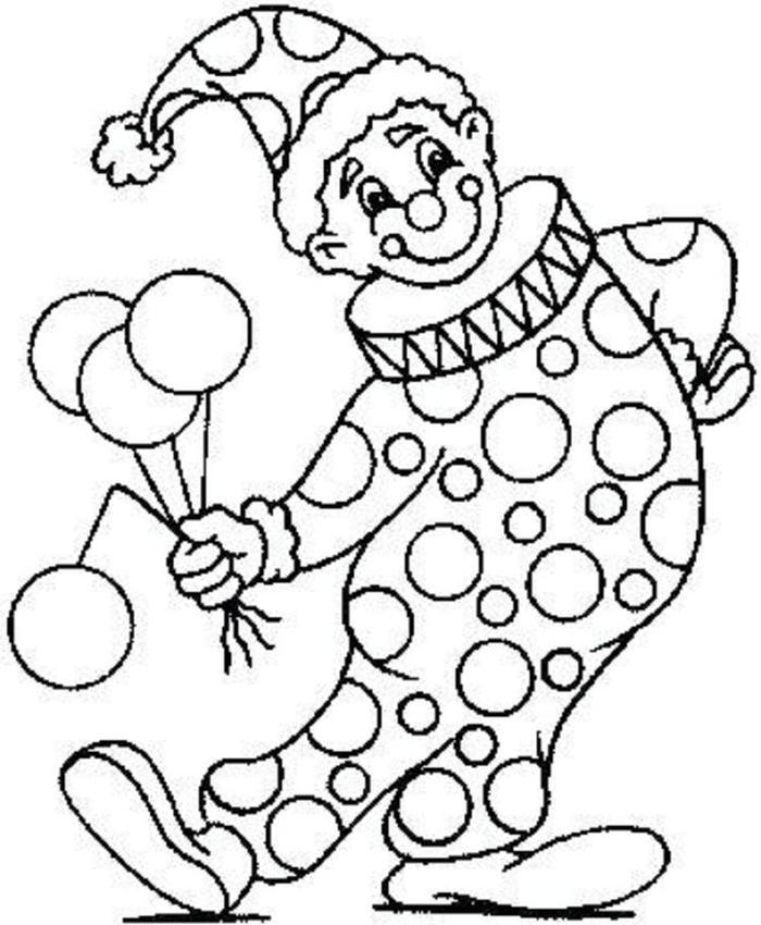 Circus Carnival Coloring Pages