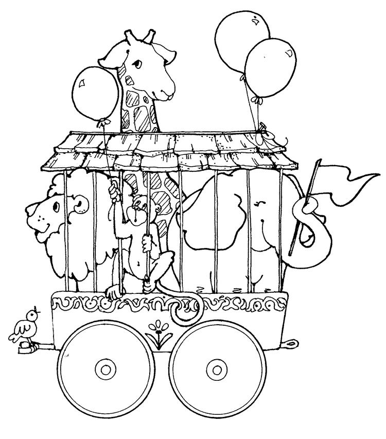 Circus coloring pages animals