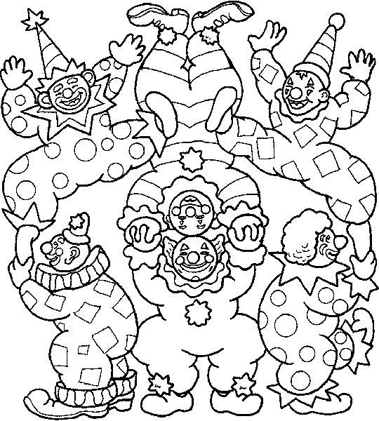Circus Coloring Pages Clowns