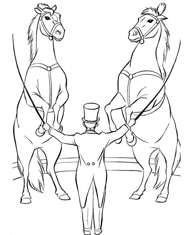 Circus Coloring Pages Horse