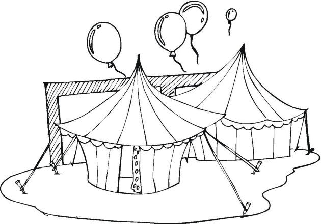 Circus Coloring Pages Tent