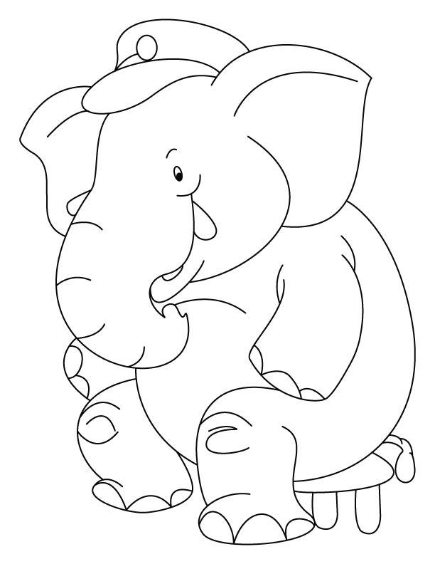 Circus Elephant Coloring Pages Az Coloring Pages
