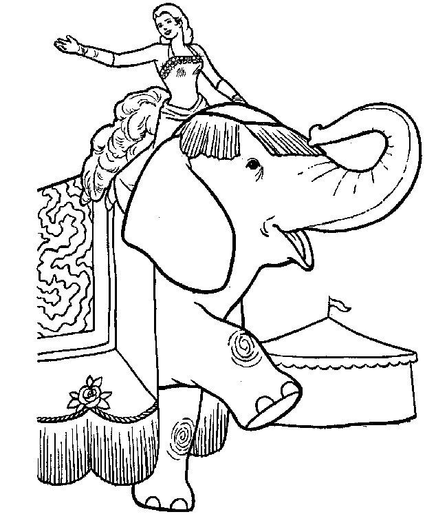 Circus Elephant Coloring Pages Ideas To Kids 2