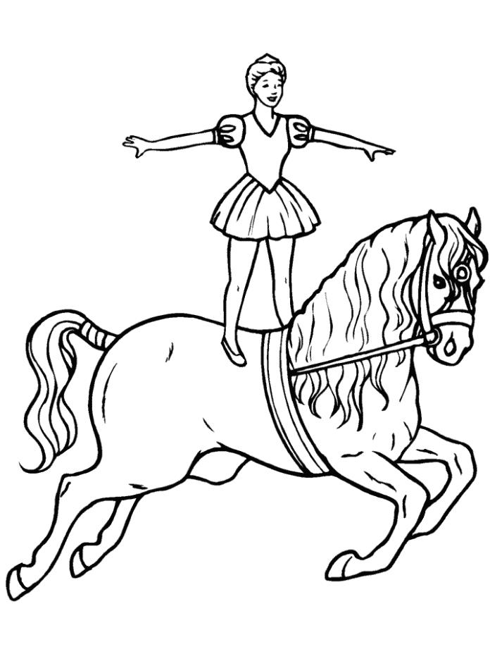 Circus Horse Animal Coloring Page