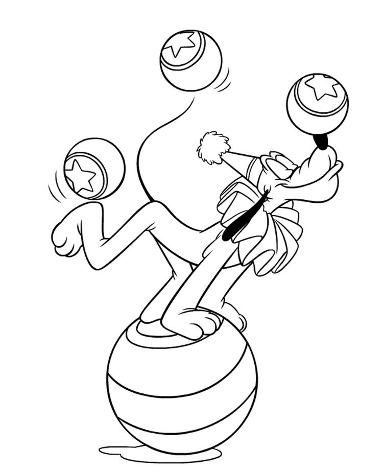 Circus Pluto Coloring Pages