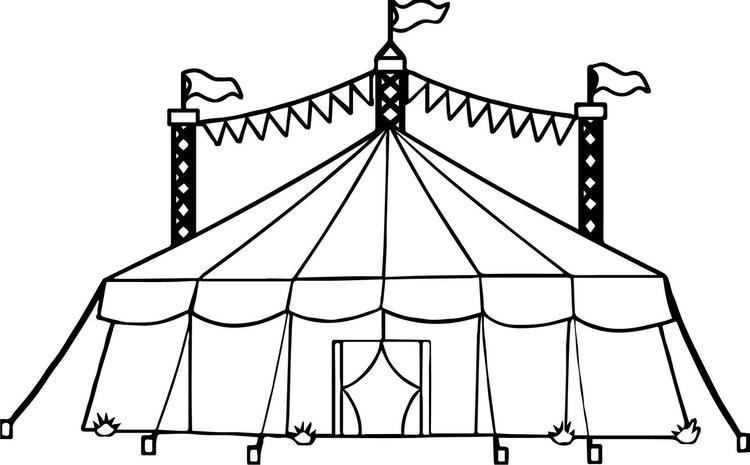 Circus Tent Coloring Page Online