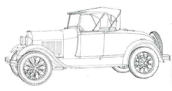 Classic Cars Coloring Pages Model A Ford