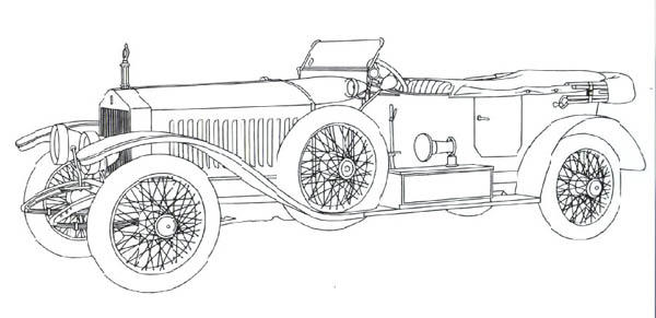 Classic Cars Coloring Pages Roll Royce Continental