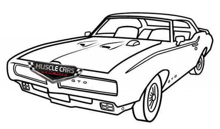 Classic Muscle Car Coloring Pages