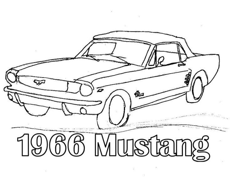 Classic Mustang Coloring Pages To Print