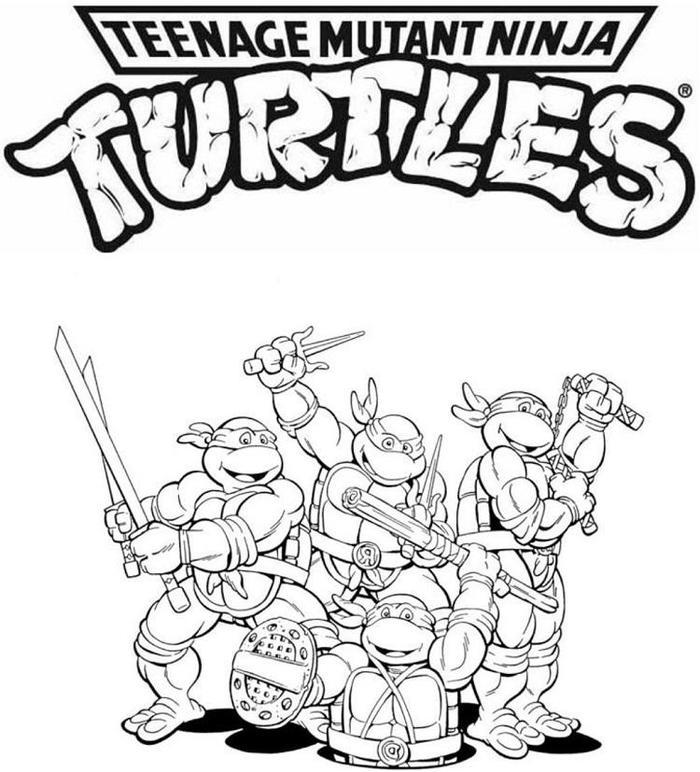Classic Ninja Turtles Coloring Pages