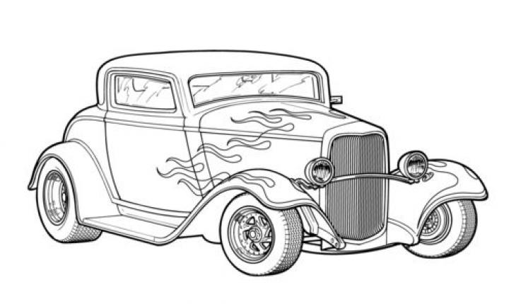 Classic Race Car Coloring Pages