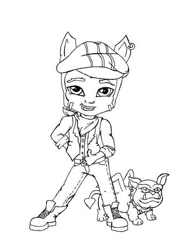 Clawd Wolf Little Boy Monster High Coloring Page