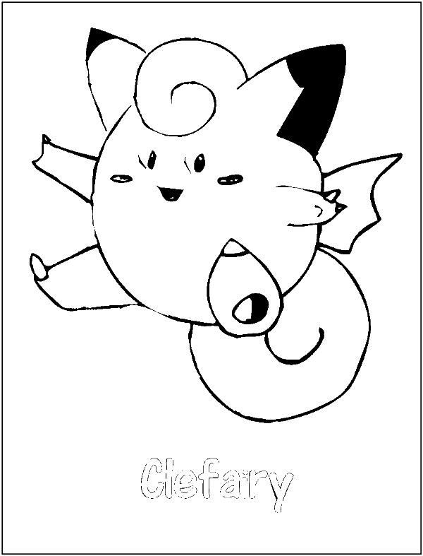 Clefairy Pokemon Coloring Page
