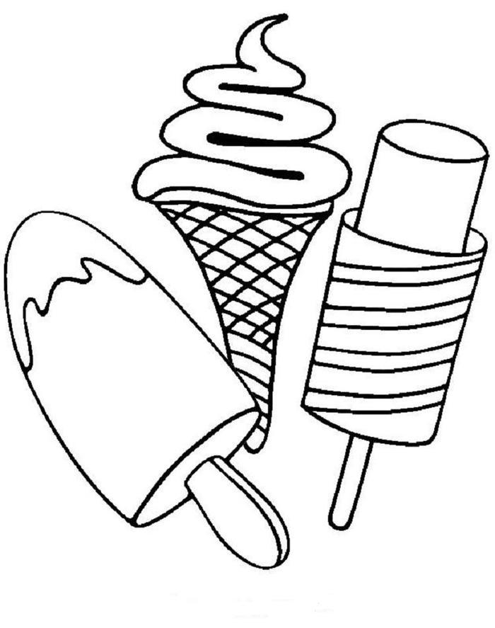 Clip Art Ice Cream Coloring Pages