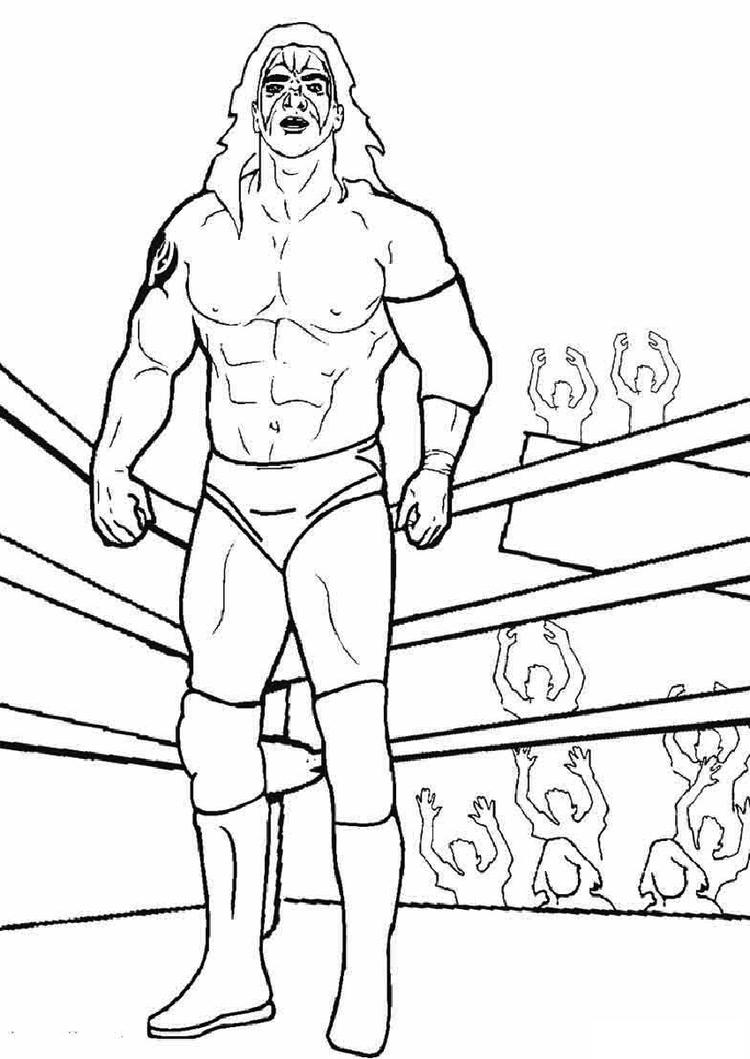 Collection Of Wwe Coloring Shee To Print