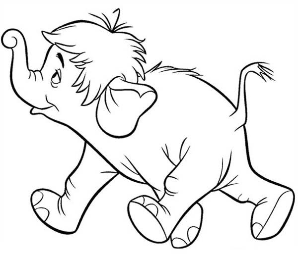 Colonel Hathi From Jungle Book Coloring Pages