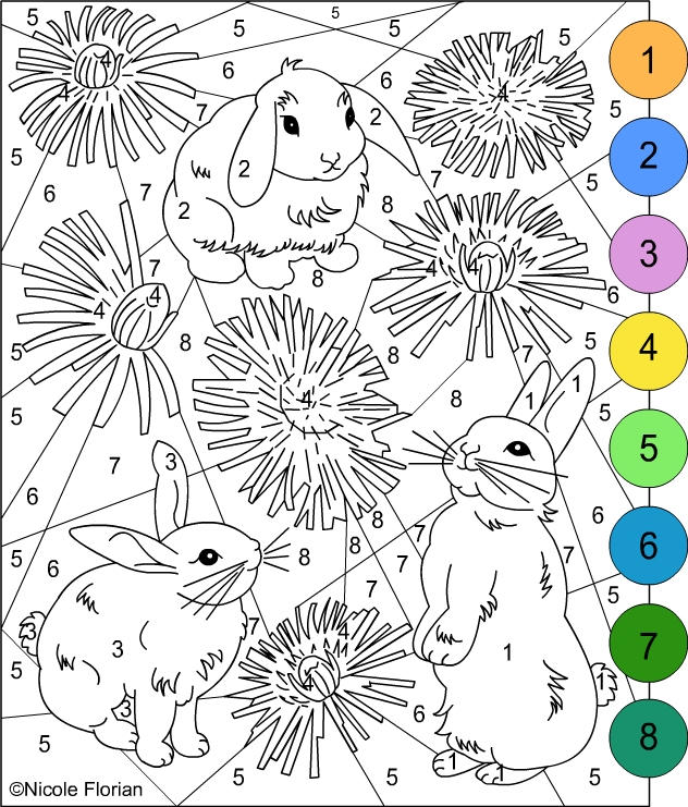 Color By Number Pages For Adults 2